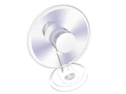 扇風機で冷やす