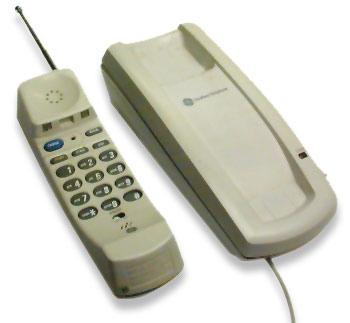 アナログコードレス電話機~ビジネスフォン・PBXで使用するアンテナと子機1対1で使用するコードレス電話機~