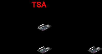 フォローミー設定中なので、転送元の内線電話機には内線着信せずに、移動先の内線電話機に着信を転送します。
