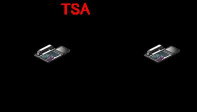 受話器を上げて内線着信拒否の特番をダイヤルして内線着信拒否設定を行う。