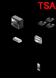 スマートフォンを内線と使うためには、構内のネットワーク上の無線LANアクセスポイントから電波を受信できる状態にする必要があります。