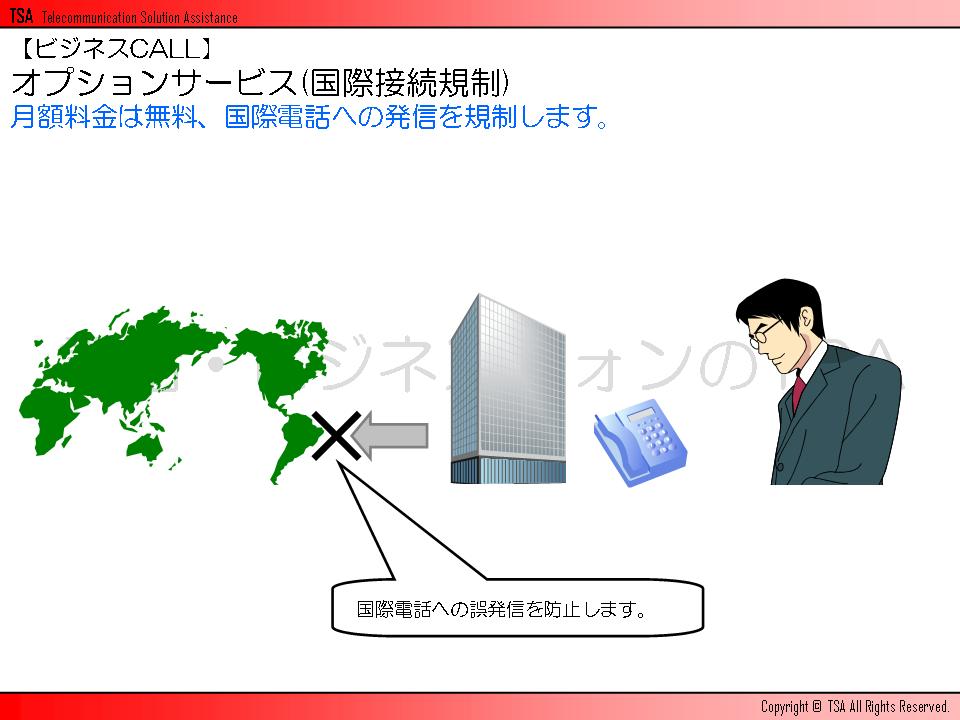 オプションサービス(国際接続規制)