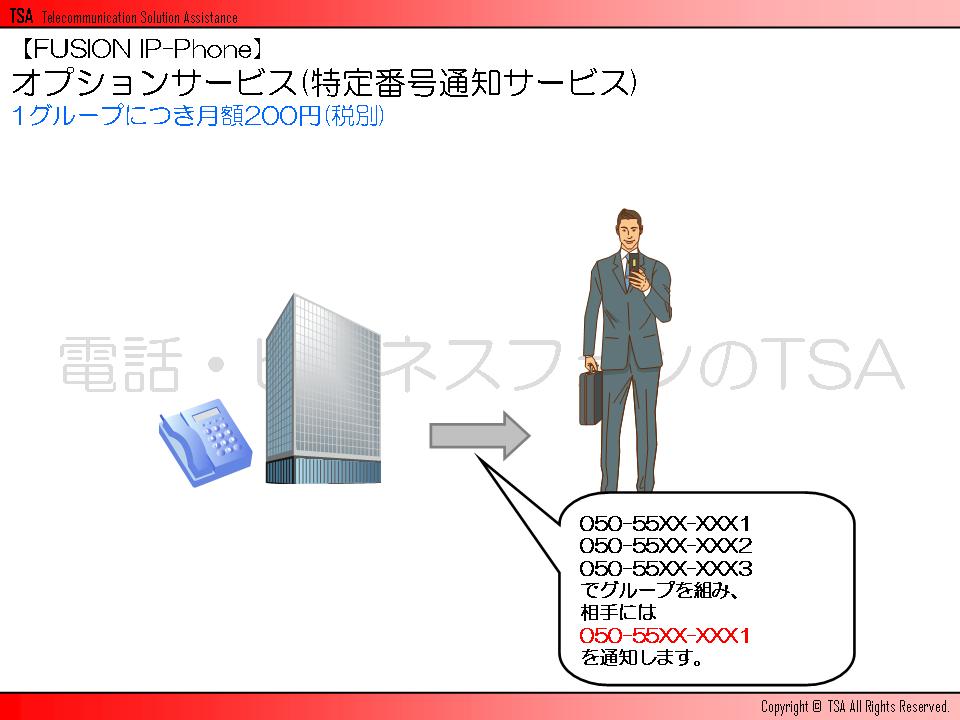 オプションサービス(特定番号通知サービス)