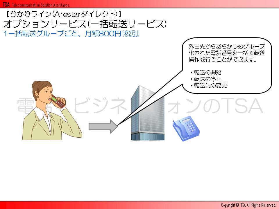 オプションサービスグループ(一括転送サービス)