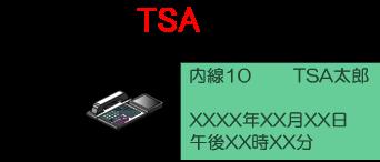 内線名称が登録された多機能電話機の液晶画面(待機状態)には、内線番号とあわせて内線名称が表示されるようになります。