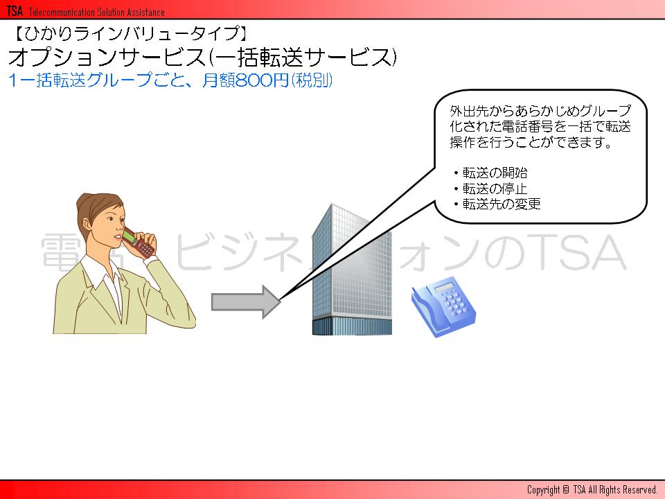 オプションサービス(一括転送サービス)