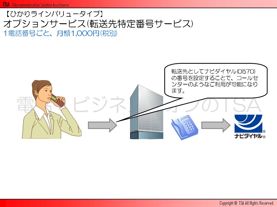 オプションサービス(転送先特定番号サービス)