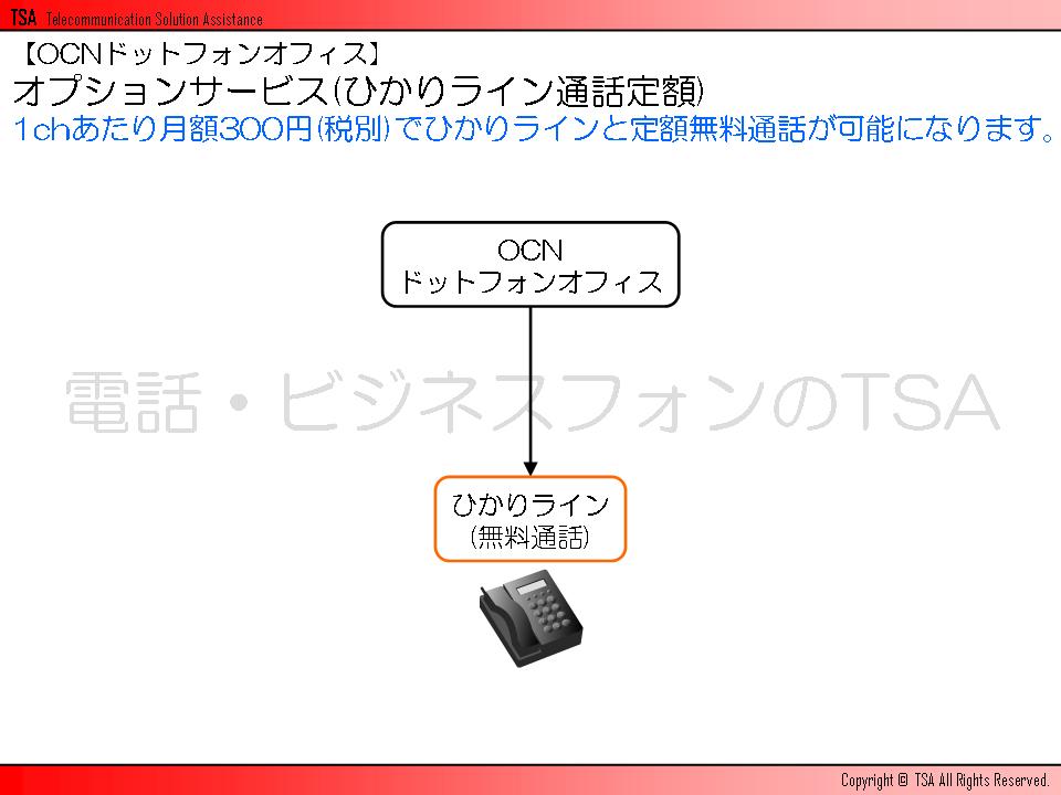 オプションサービス(ひかりライン通話定額)